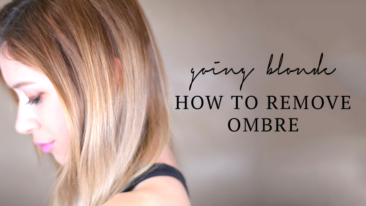 GOING ASH BLONDE | HOW TO REMOVE OMBRE