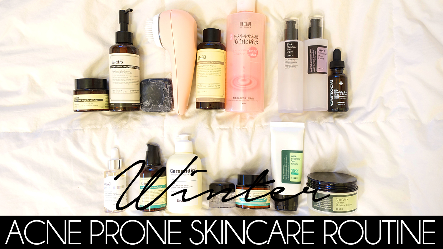 WINTER SKINCARE ROUTINE DRY ACNE PRONE SKIN