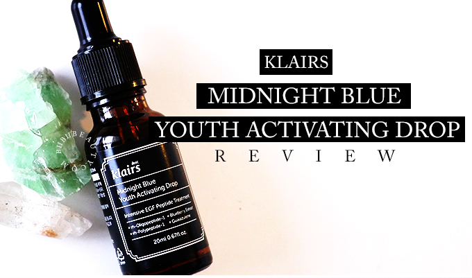 KLAIRS MIDNIGHT BLUE YOUTH ACTIVATING DROP REVIEW | In-depth