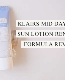KLAIRS MID DAY BLUE SUN LOTION REVIEW | Renewed Formula!