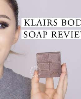 KLAIRS BODY SOAP REVIEW   Manuka Honey & Cocoa AHA Soap for Body Acne?!