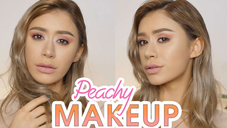 PEACH EYE SHADOW TUTORIAL | Soft Peach & Rose Gold Summer Makeup