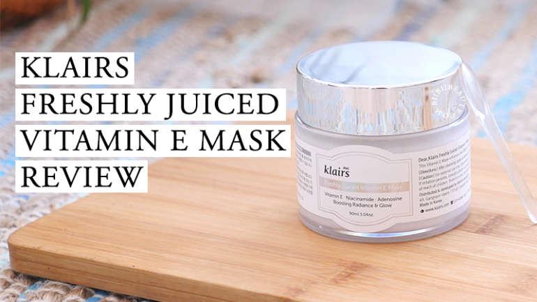 KLAIRS FRESHLY JUICED VITAMIN E MASK REVIEW | Anti Aging Cream for Sensitive Skin